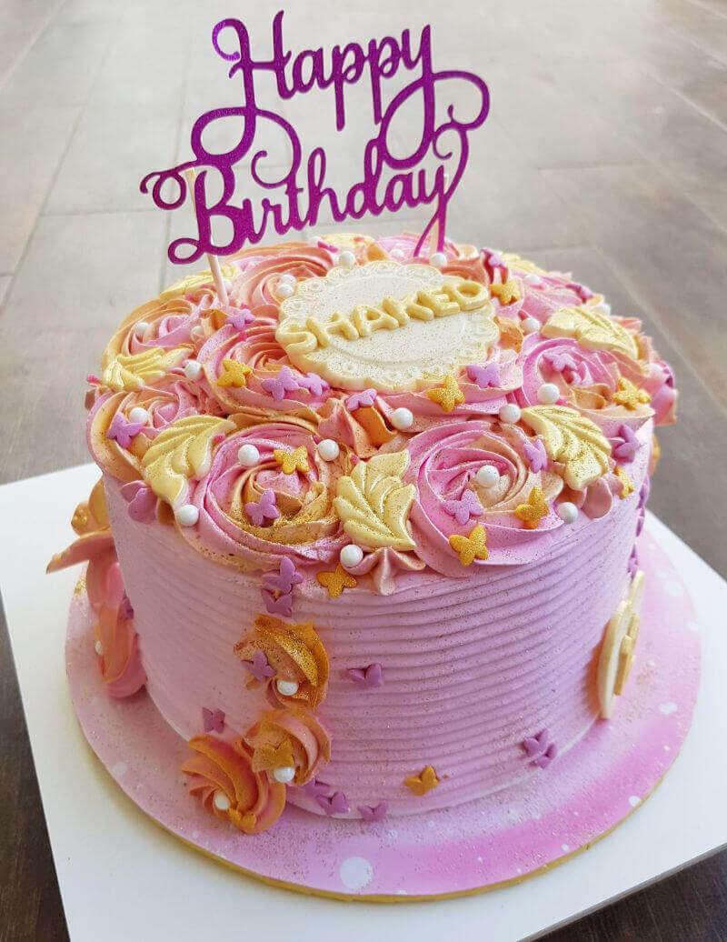 עוגת יום הולדת מעוצבת לבת