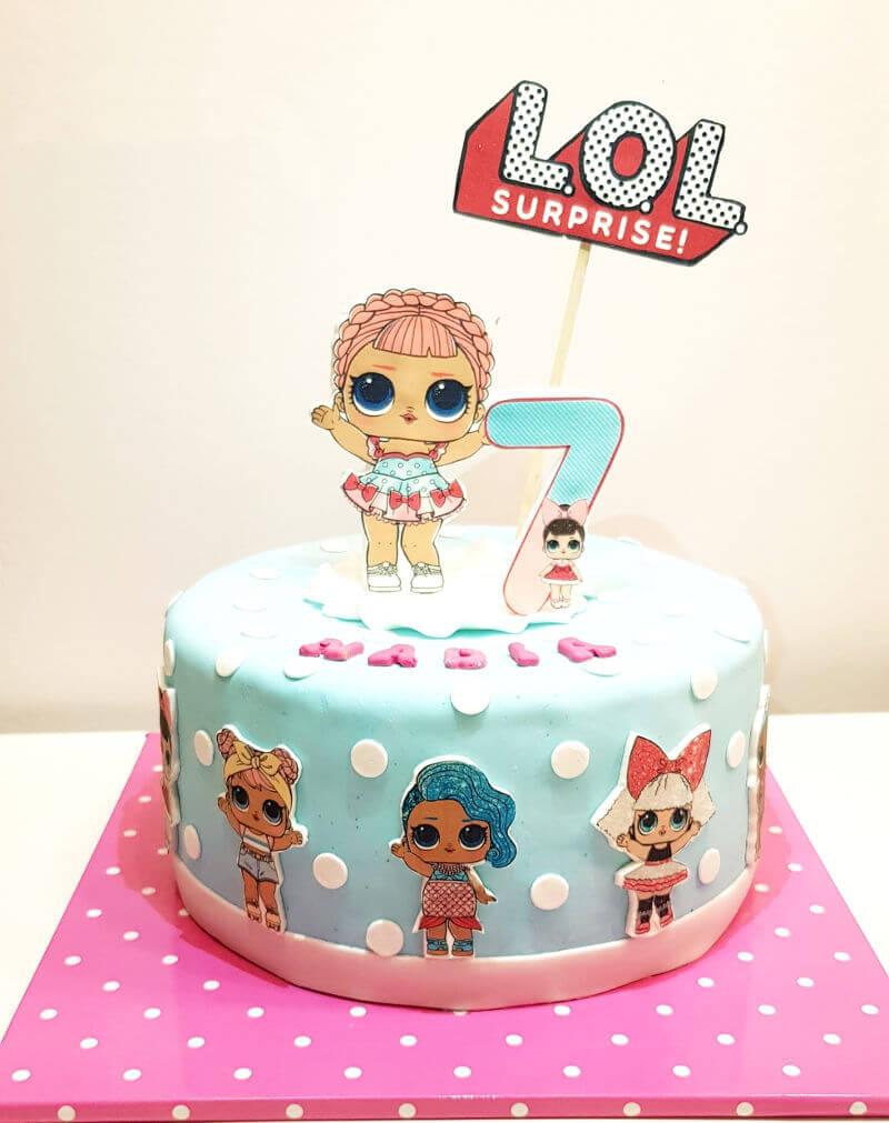 עוגת יום הולדת מעוצבת לול LOL