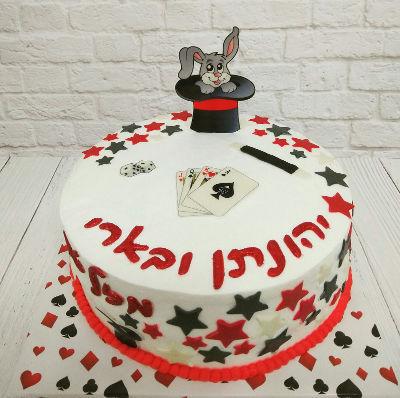 עוגת יום הולדת מעוצבת קסמים