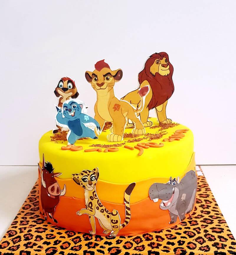עוגת יום הולדת משמר האריות