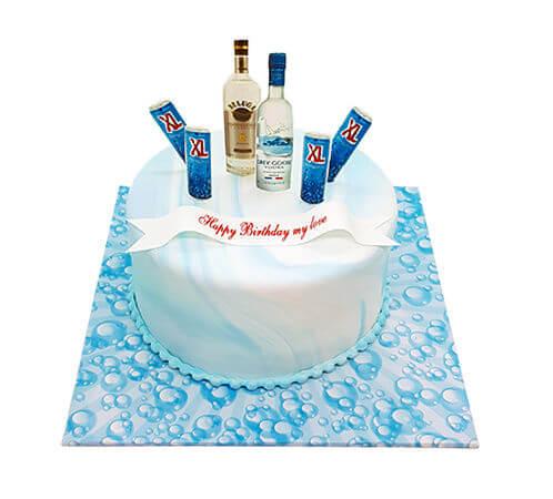 עוגת יום הולדת עם אלכוהול לבעל