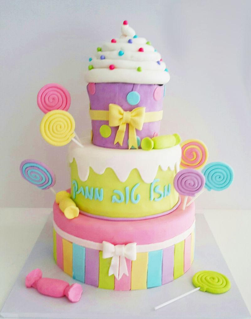 עוגת יום הולדת קאפקייק