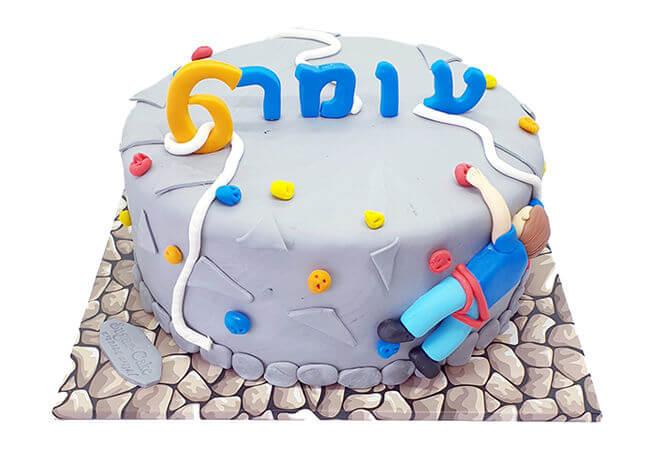 עוגת יום הולדת קיר טיפוס