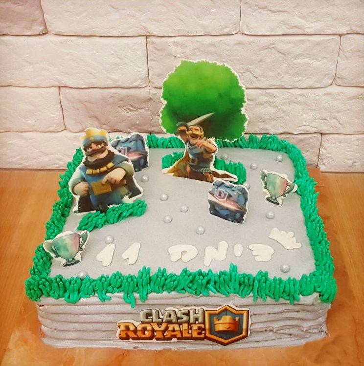 עוגת יום הולדת קלאש רויאל