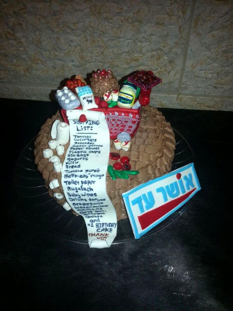 עוגת יום הולדת קניות