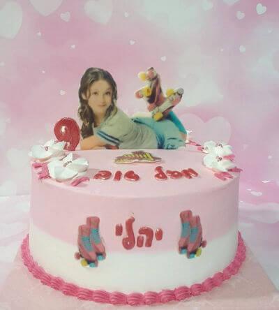 עוגת יום הולדת לבנות רולרס