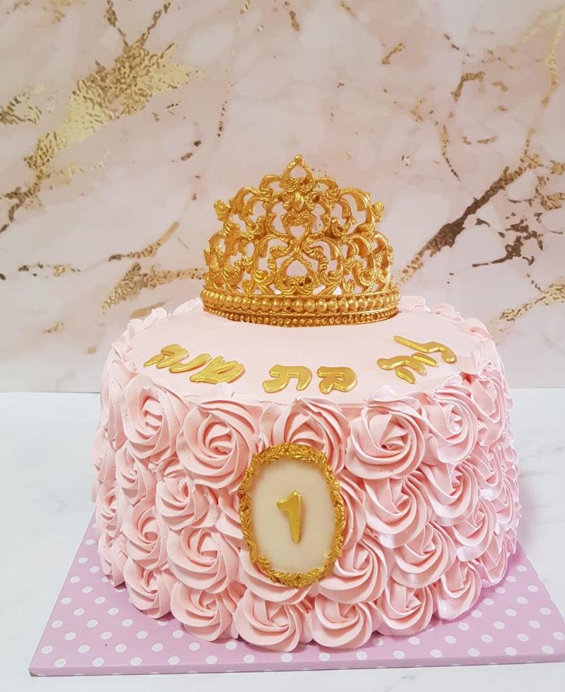 עוגת יום הולדת שנה לבת