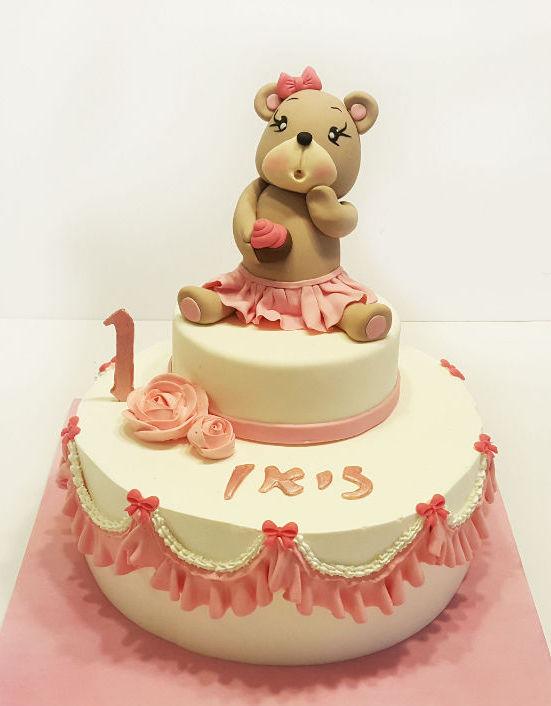 עוגה ליום הולדת שנה דובי לבת
