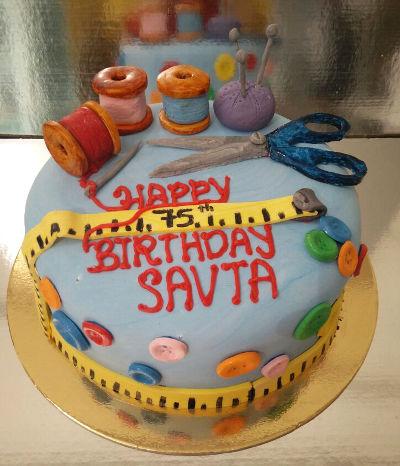 עוגת יום הולדת תפירה