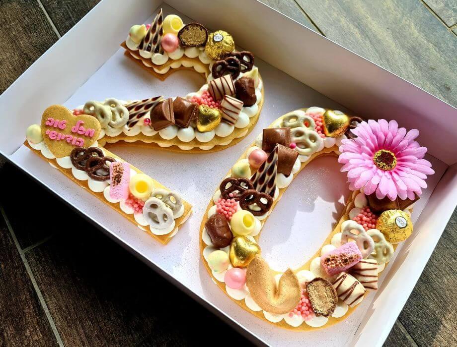 עוגת יום הולדת 20