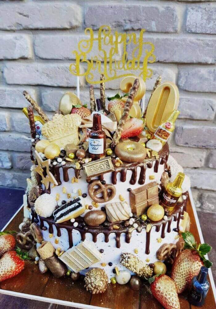 עוגת טפטופים ליום הולדת 30
