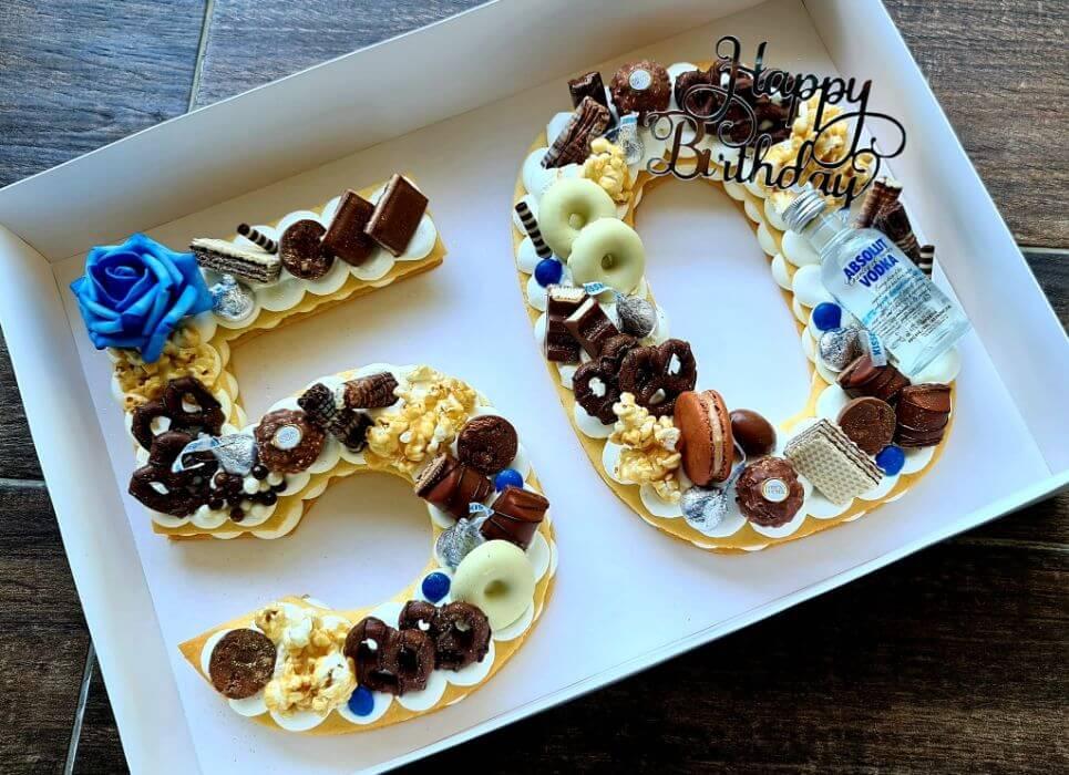 עוגת יום הולדת 50 בסגנון כדורגל