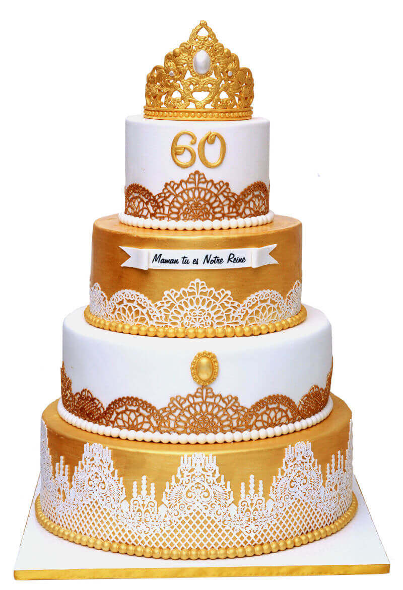 עוגת יום הולדת 60 מפוארת
