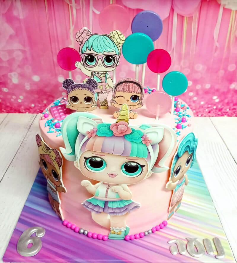 עוגת יום הולדת LOL לול