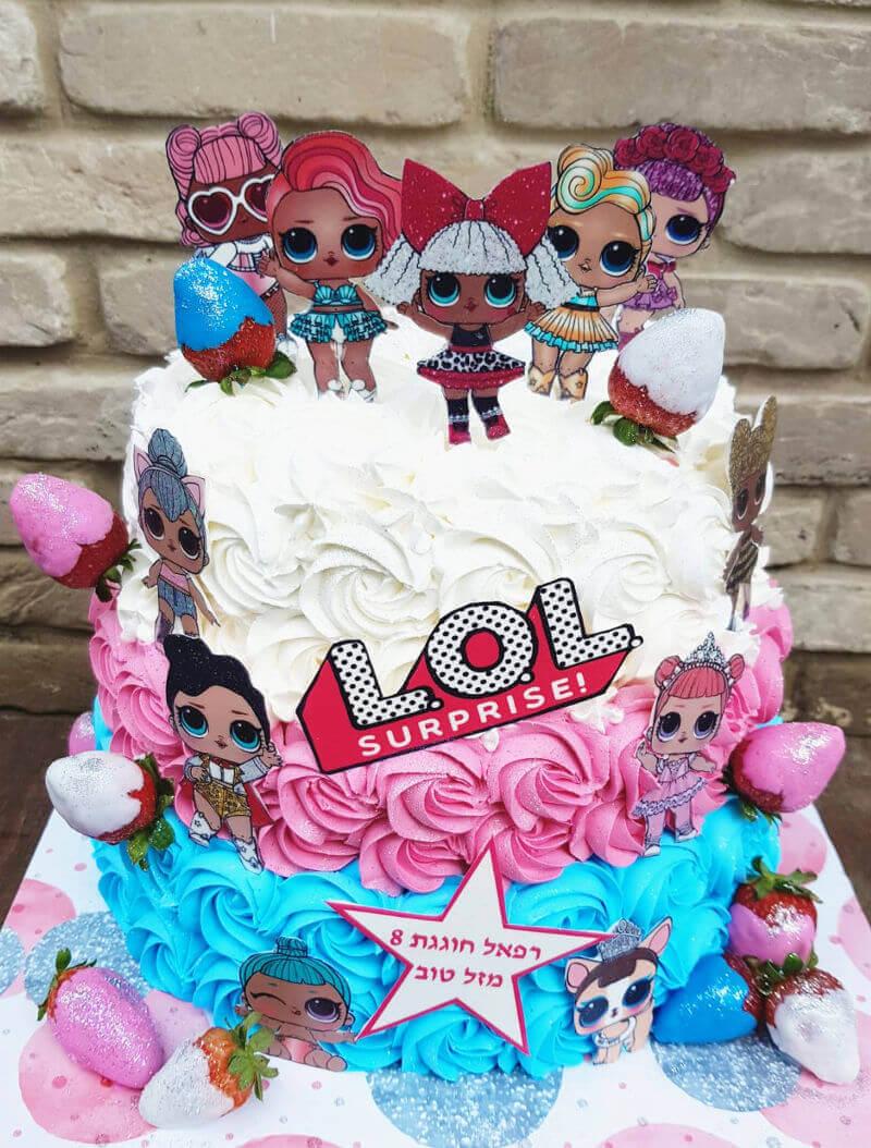 עוגת יום הולדת LOL