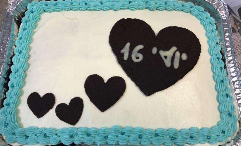 עוגת יום הולדת מלבנית