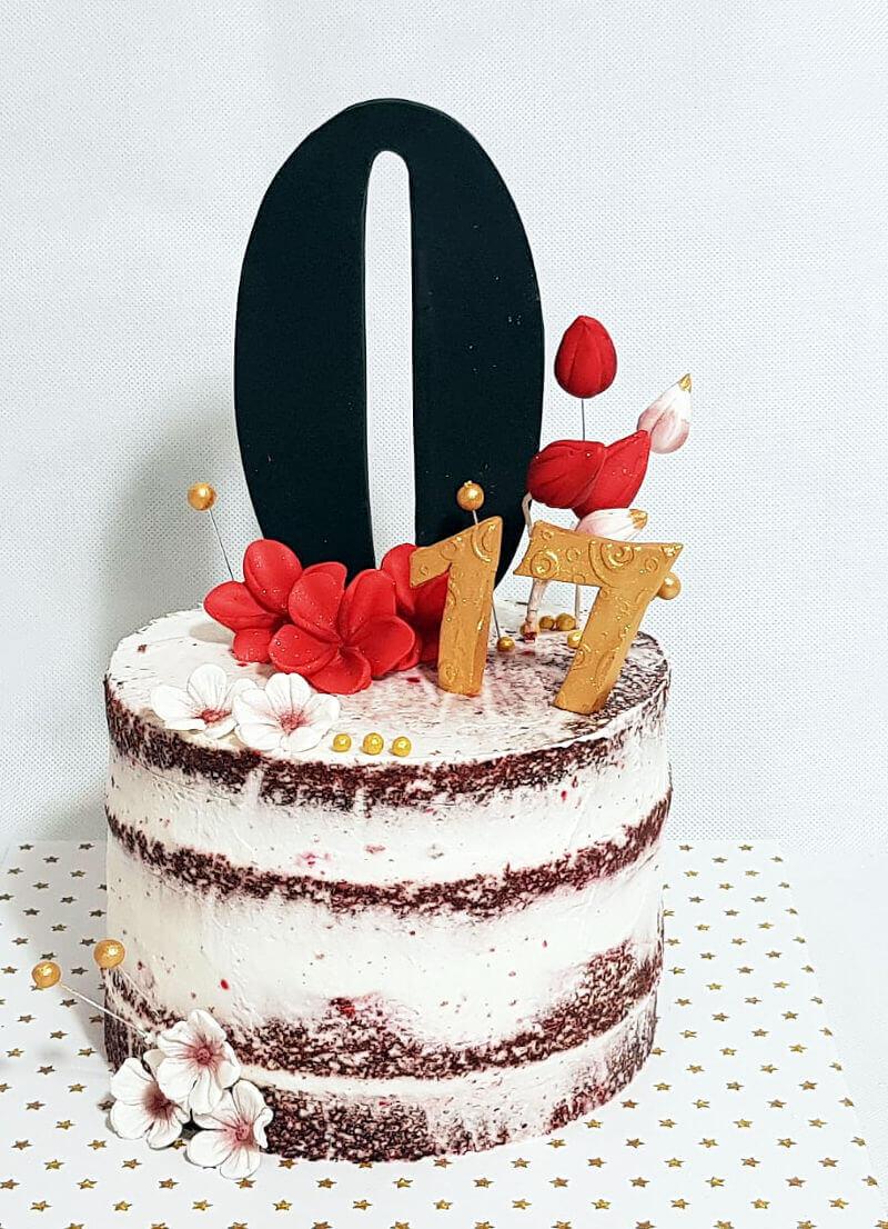 עוגת יום הולדת מעוצבת Red Velvet