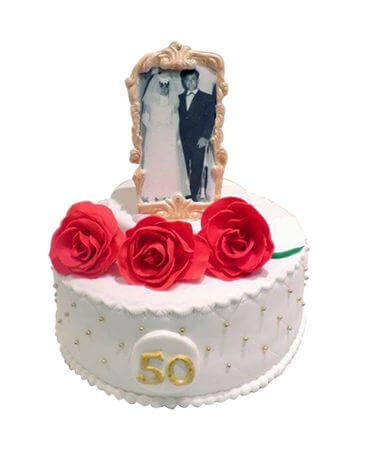 עוגת יום נישואין 50