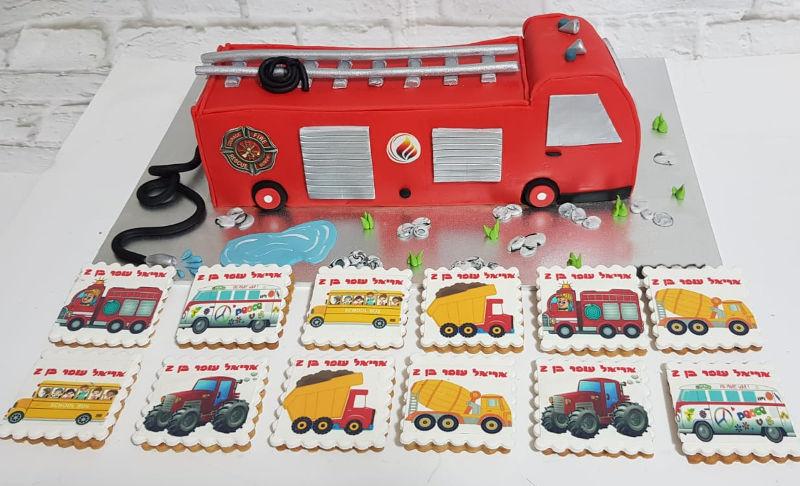 עוגת כבאית ועוגיות כל תחבורה