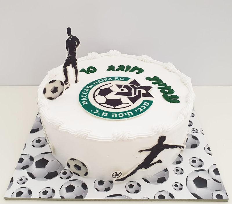 עוגת כדורגל מעוצבת מכבי