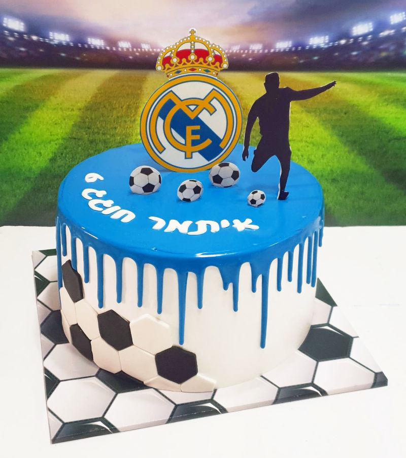 עוגת כדורגל מעוצבת ריאל מדריד