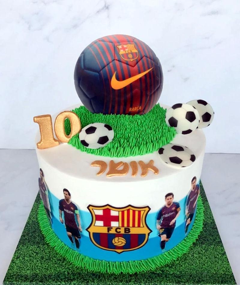 עוגת כדורגל נבחרת ברצלונה