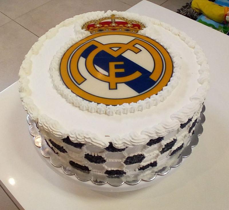 עוגת כדורגל ריאל מדריד