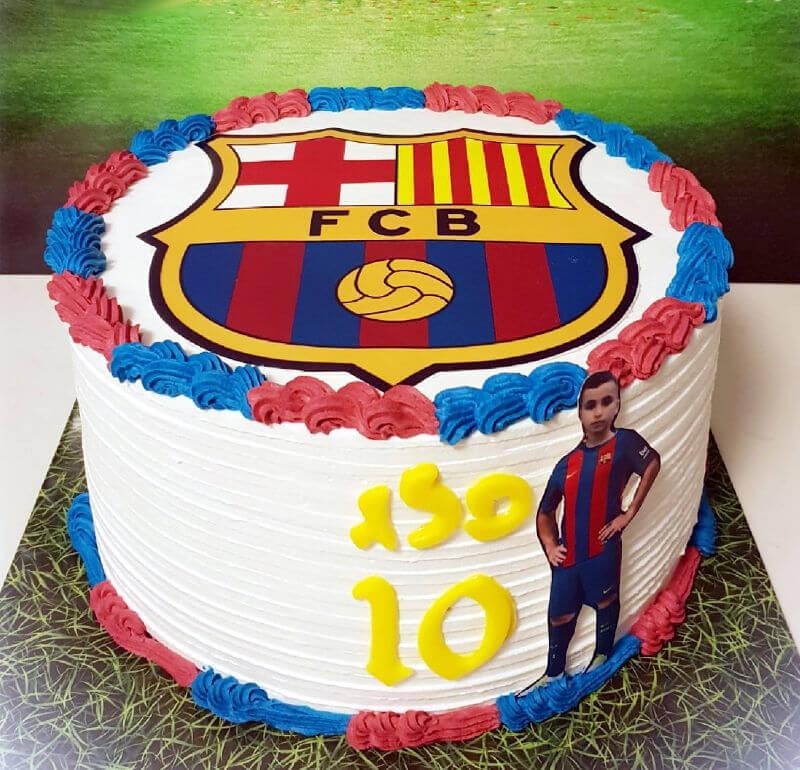 עוגת כדורגל מעוצבת