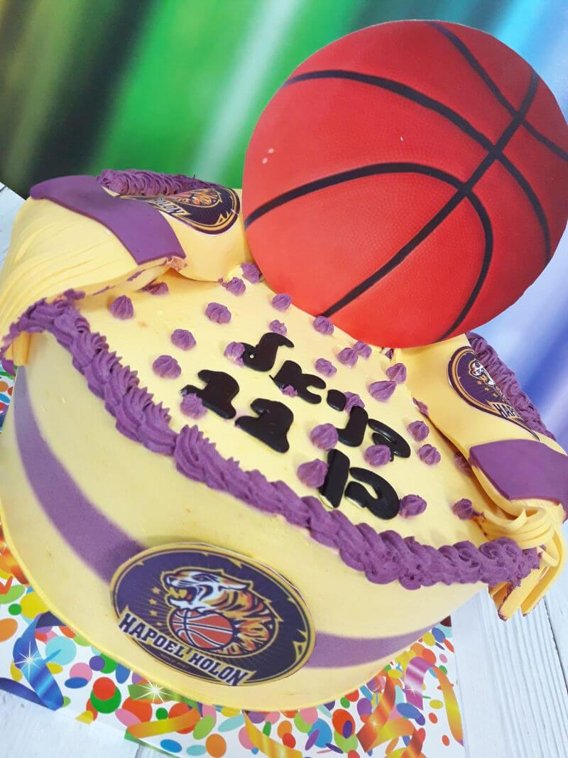 עוגת כדורסל הפועל חולון
