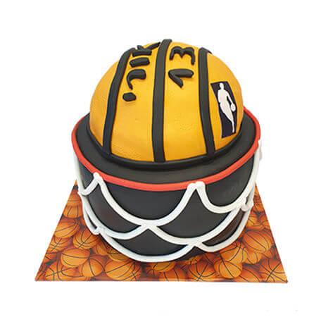 עוגת כדורסל מבצק סוכר