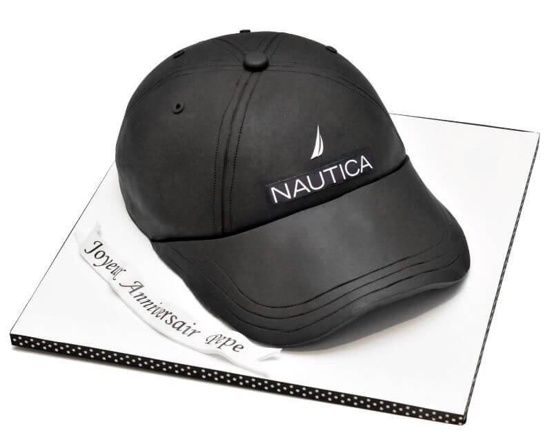 עוגת כובע נאוטיקה מיוחדת מבצק סוכר