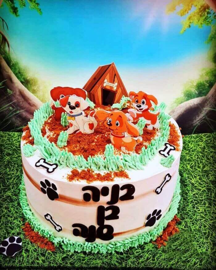 עוגת כלבלבים לגיל שנה