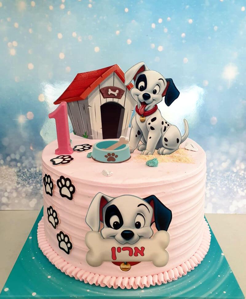 עוגת כלב דלמטי לגיל שנה