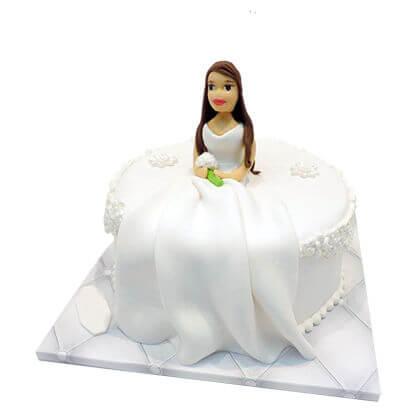 עוגת כלה מעוצבת מבצק סוכר