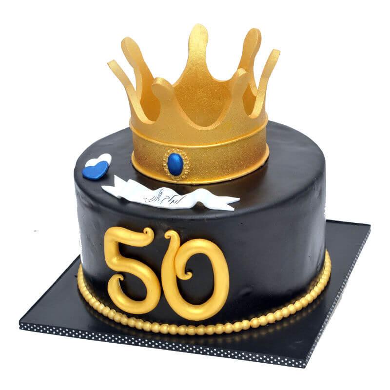 עוגת כתר יום הולדת 50