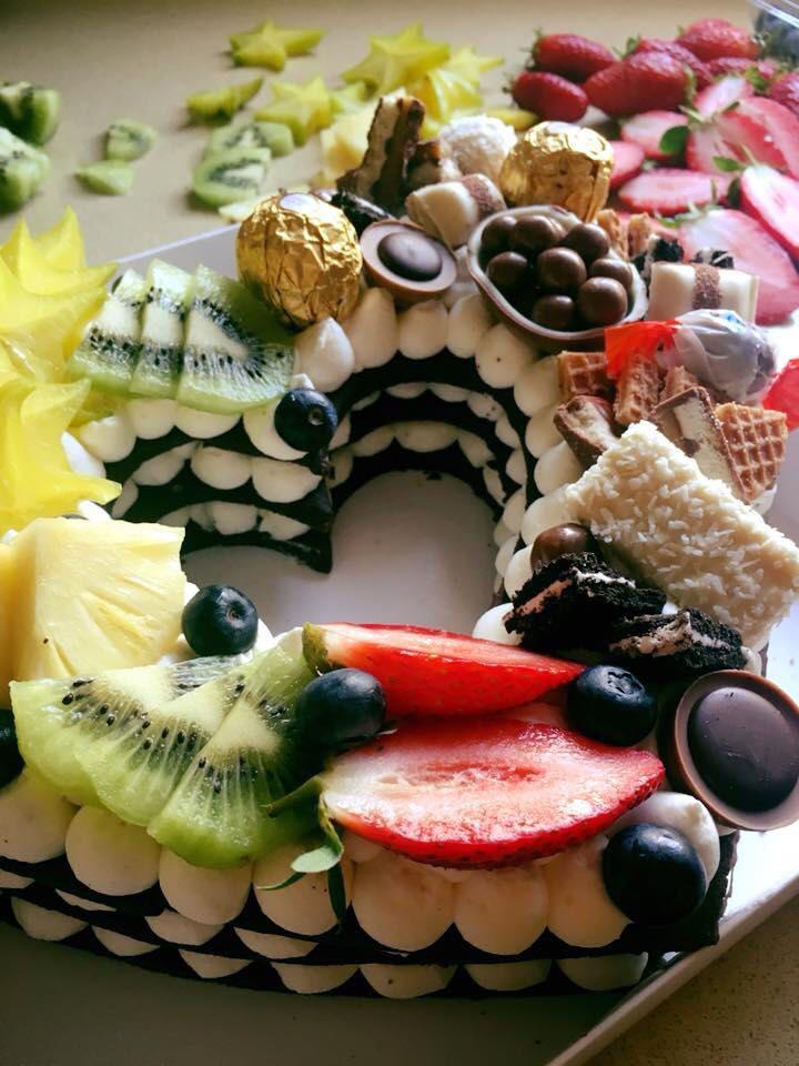 עוגת לב בצק פריך ופירות
