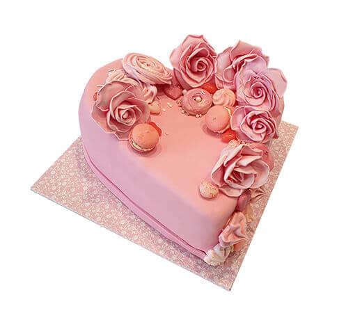 עוגת לב ליום האהבה