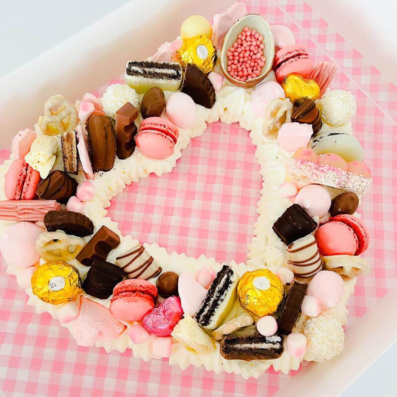 עוגת לב מתוקה