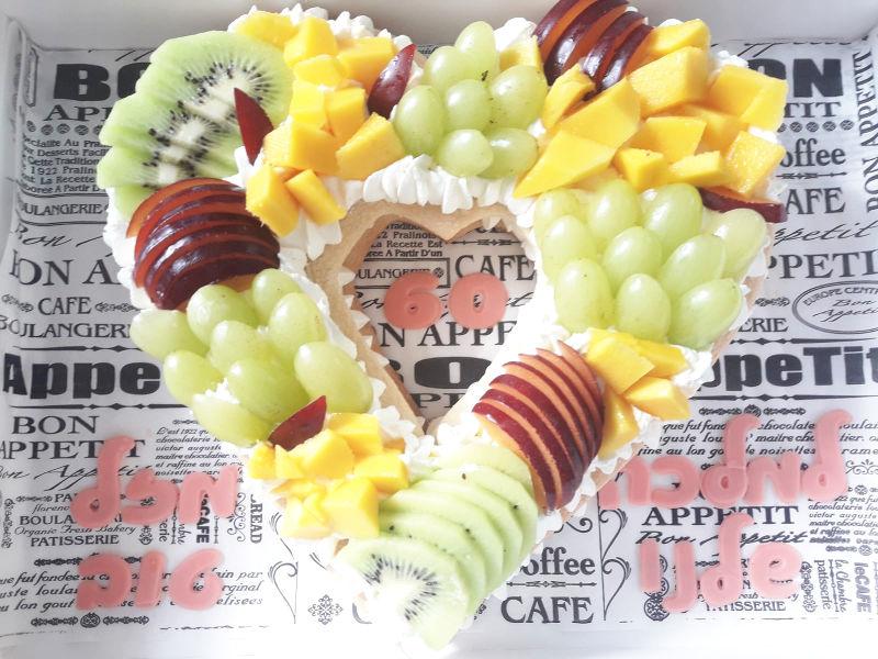 עוגת לב פירות