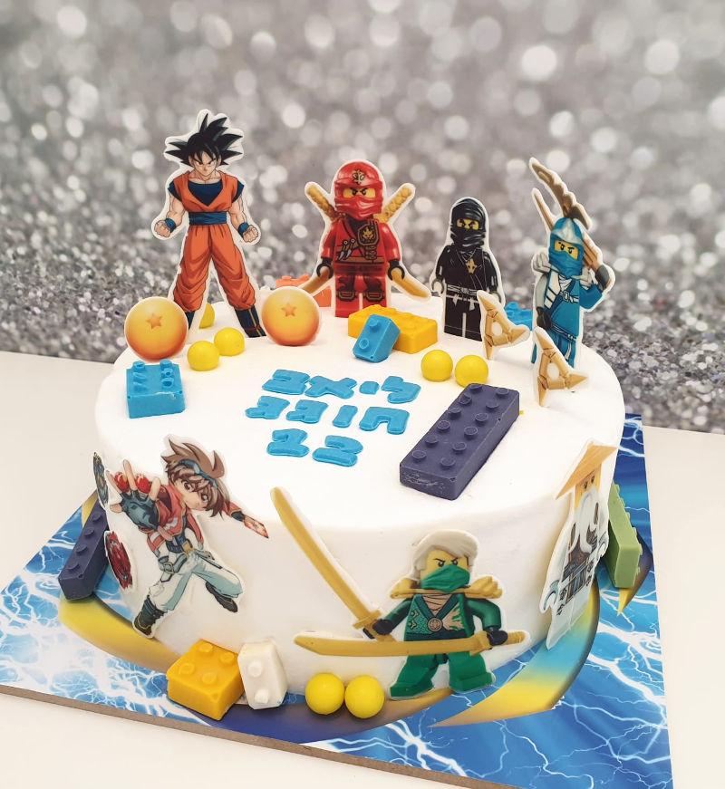 עוגת לגו מעוצבת
