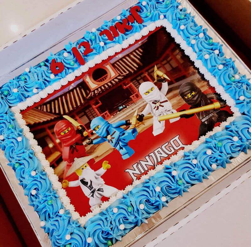 עוגת לגו נינגגו מלבנית לגן