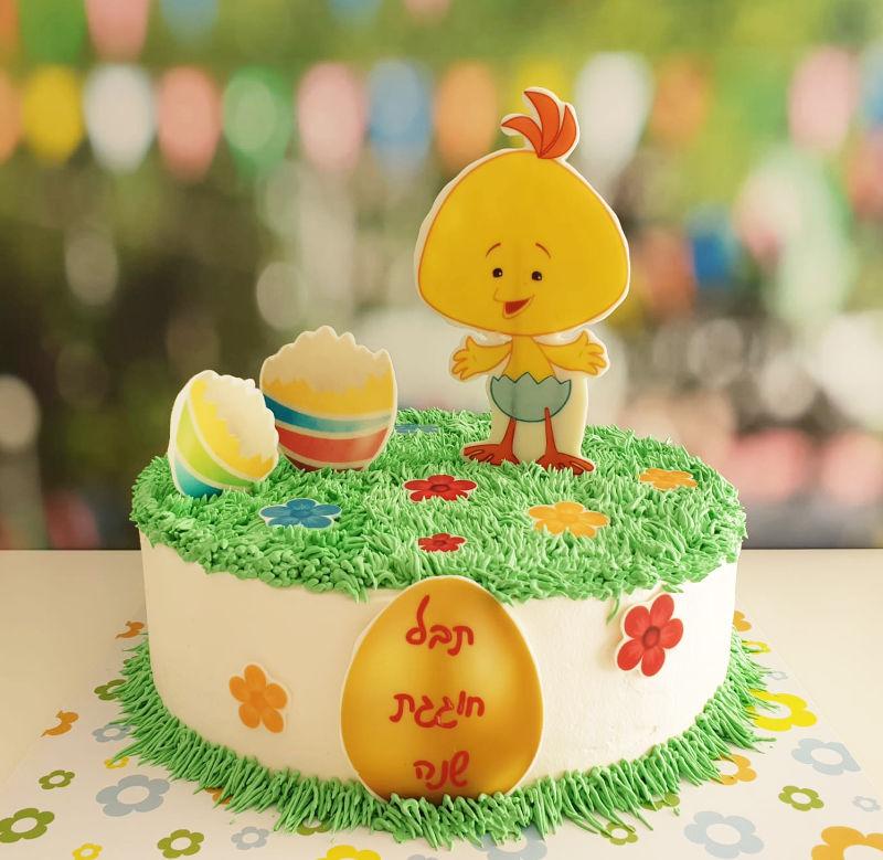 עוגת זילוף ליום הולדת שנה לולי