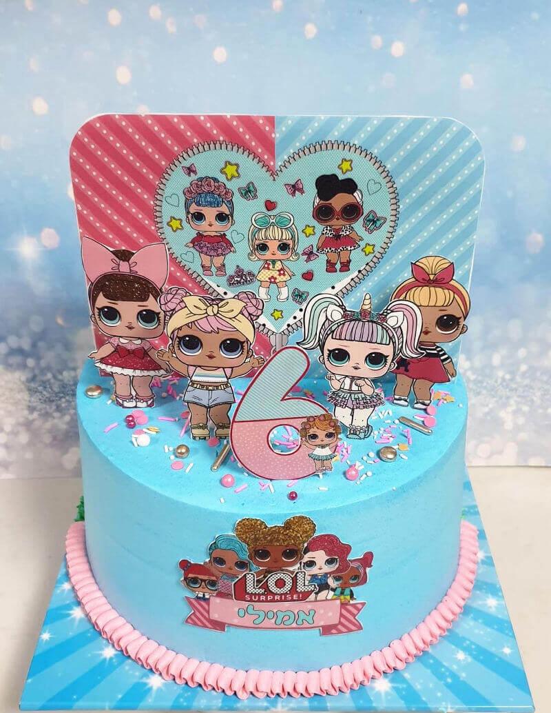 עוגת בובות לול LOL ליום הולדת