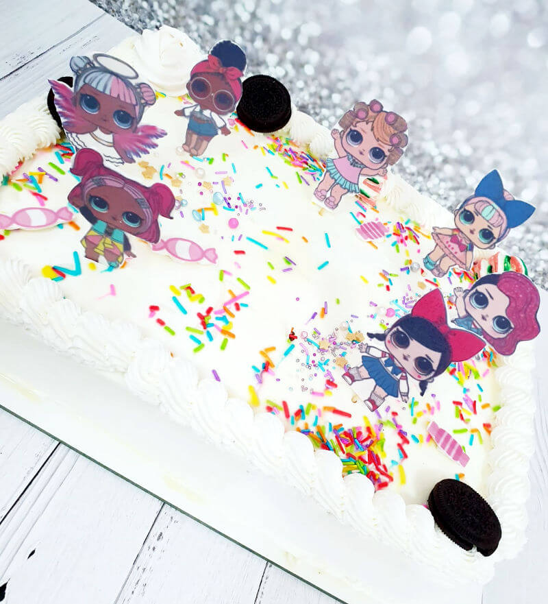 עוגת לול מלבנית LOL