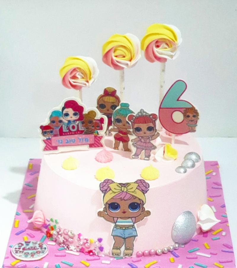 עוגת לול וסוכריות מרנג LOL