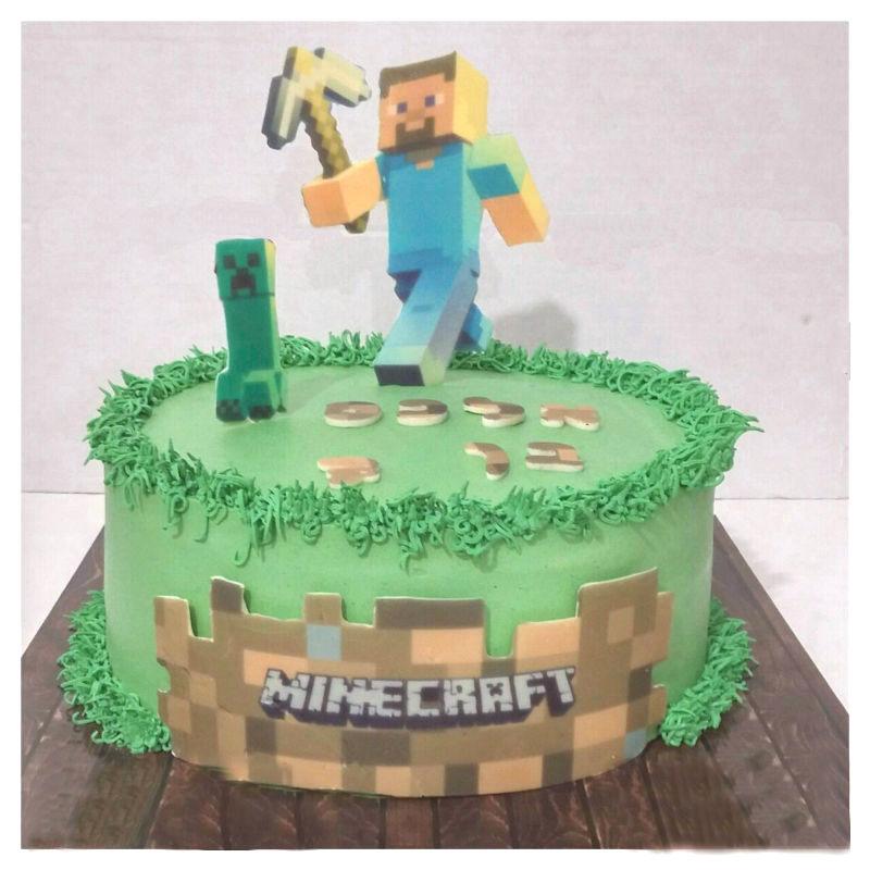 עוגת מאינקרפט ליום הולדת בנים