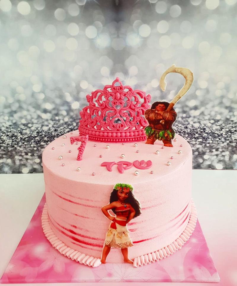 עוגת מואנה ורודה