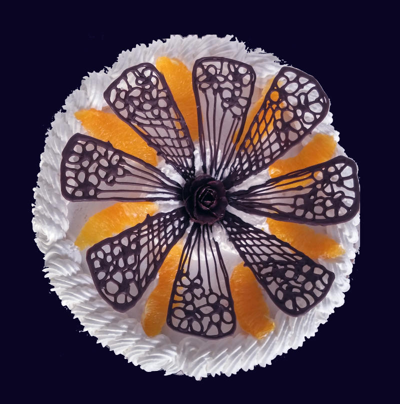 עוגת מוסים ופירות