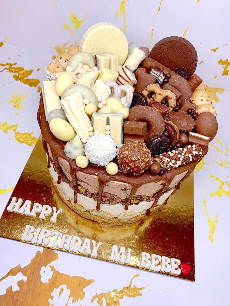 עוגת מוסים ושוקולדים פררו ורפאלו