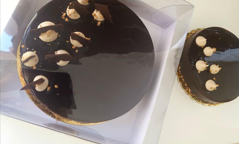 עוגת מוס שוקולד חלב מריר וקפה